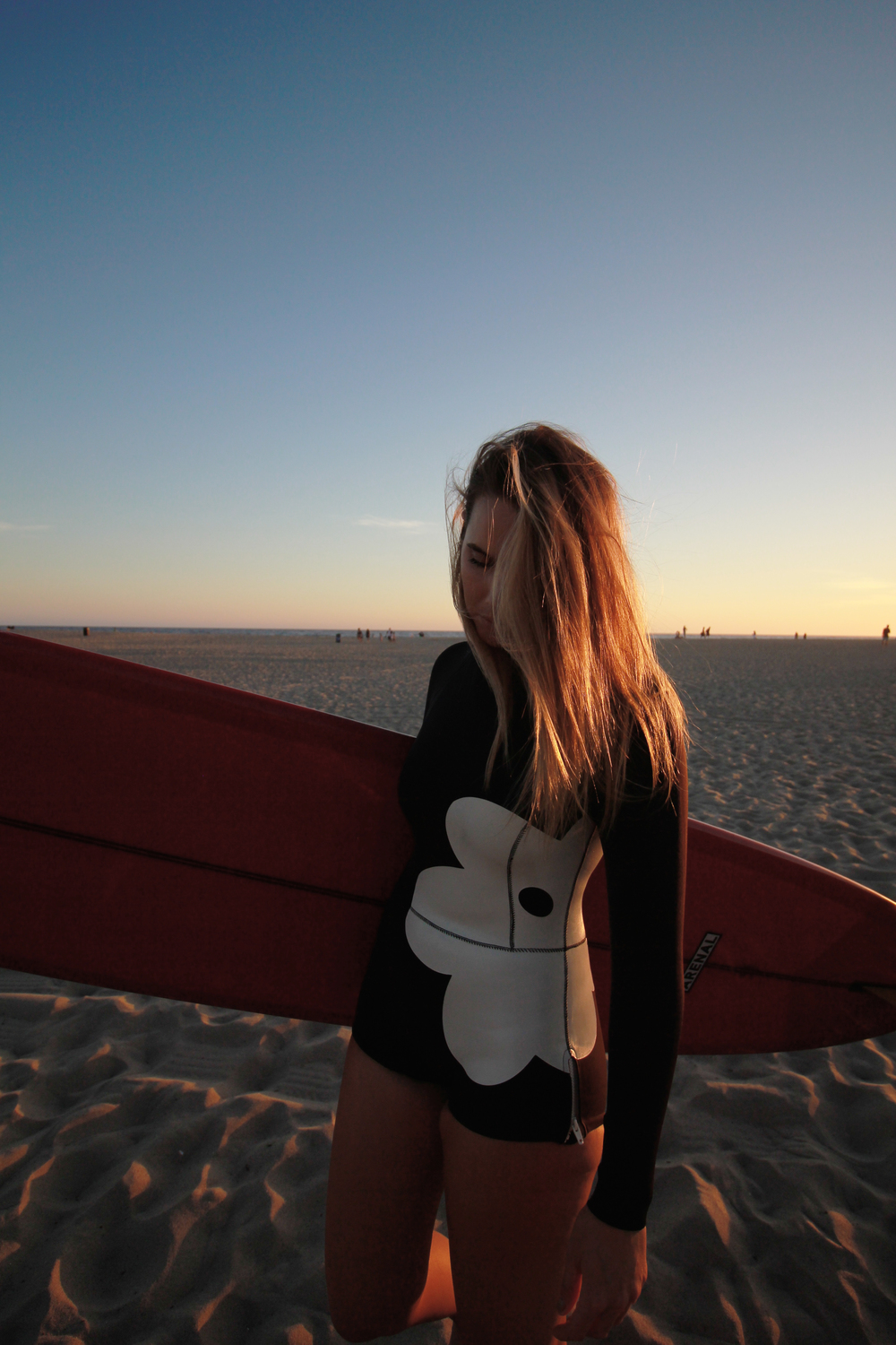 bree warren the wave provocateur surfing venice beach swim cynthia rowley wetsuit