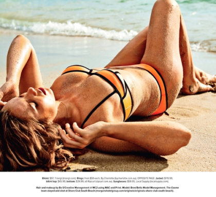 bree warren cosmopolitan australia magazine editorial model swim