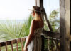 bree warren in tulum mexico wearing reformation