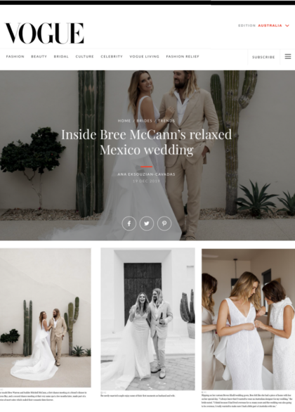 Bree McCann Vogue Brides Wedding